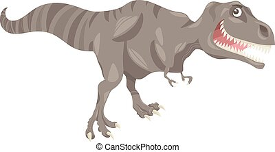tyrannosaurus, dessin animé, illustration, dinosaure