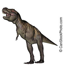 Tyrannosaurus dinosaur - Aggressive tyrannosaurus rex with...