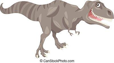 tyrannosaurus dinosaur cartoon illustration - Cartoon ...