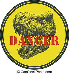 Tyrannosaurus Dinosaur . Hand drawn. Vector eps8 -...
