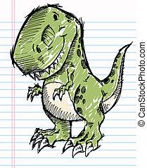 Tyrannosaurus Dinosaur Sketch - Tyrannosaurus Dinosaur...