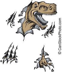 Tyrannosaurus Dinosaur Vector art