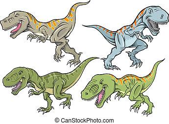 Tyrannosaurus Dinosaur Vector Set