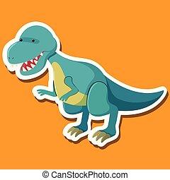 tyrannosaurus, litera, rysunek