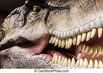 tyrannosaurus, mostrando, seu, toothy, boca