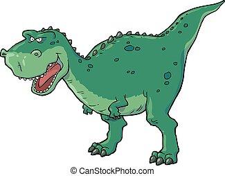 Tyrannosaurus on a white background vector illustration