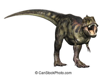 Tyrannosaurus Rex Attack - Tyrannosaurus Rex full body...