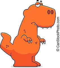 tyrannosaurus,  Rex, caricatura, triste