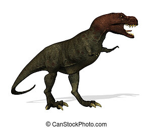 Tyrannosaurus Rex - A Tyrannosaurus Rex dinosaur - 3D render