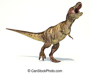 Tyrannosaurus Rex dinosaur, full body photorealistic...