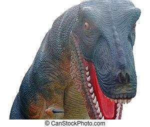 tyrannosaurus rex dinosaur showing teeth