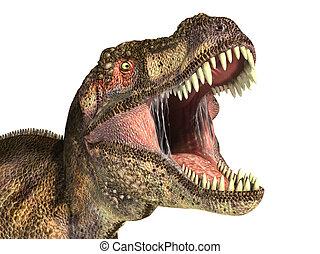 Tyrannosaurus Rex dinosaur, photorealistic representation,...