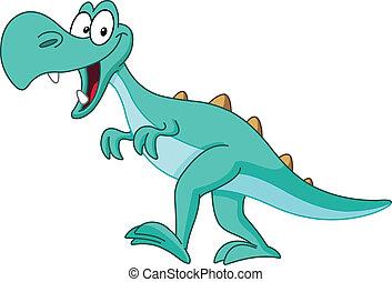 Tyrannosaurus rex dinosaur walking