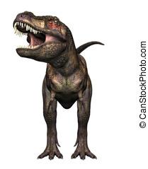Tyrannosaurus Rex Front View - Tyrannosaurus Rex head on...