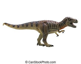 tyrannosaurus-rex isolated on white background