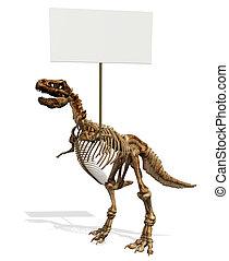 Tyrannosaurus Rex Skeleton -3D render