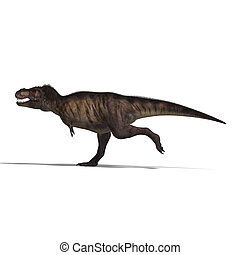 Tyrannosaurus rex - T-Rex. 3D render with clipping path and ...