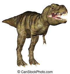 Tyrannosaurus Rex (T-rex) - Illustration of a Tyrannosaurus...