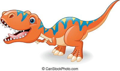 tyrannosaurus, rysunek, szczęśliwy
