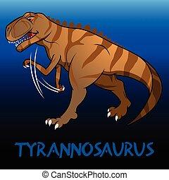 tyrannosaurus, schattig, dinosaurussen