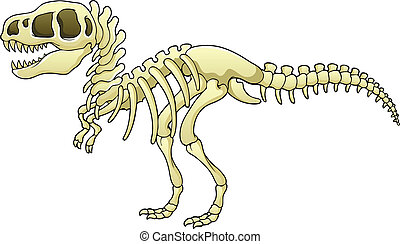 Tyrannosaurus skeleton image - vector illustration.