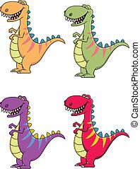 tyrannosaurus, spotprent