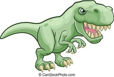 Tyrannosaurus T Rex Dinosaur Cartoon Character - A T Rex...
