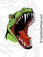 tyrannosaurus, testa