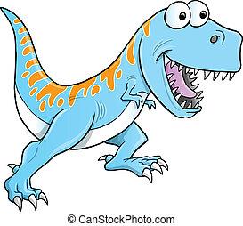 tyrannosaurus, vecteur, idiot, dinosaure