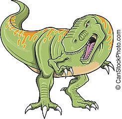 tyrannosaurus, vector, dinosaurio