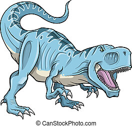 tyrannosaurus, vetorial, dinossauro