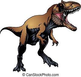 tyranosaurus rex isolated on the white background