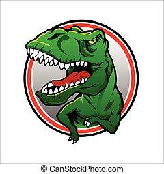 tyranosaurus, rex, vector, dibujo
