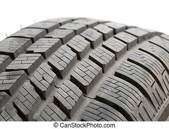 Car tyre detail closeup