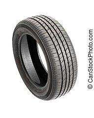 Tyre - Car tyre isolated on pure white background