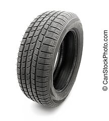 Tyre - Car tyre isolated on white background