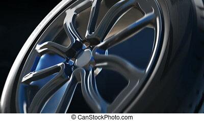 Tyre construction scheme background concept - Summer tyre 3D...