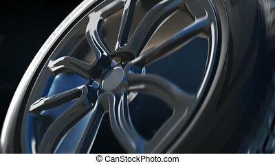 Tyre construction scheme background concept - Winter studded...
