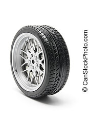 Tyre on white Background