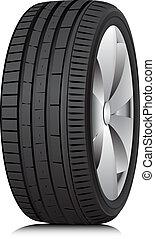 tyre., wheel., vector.