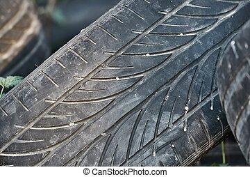 Tyres trown away