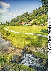 Tyrol country side near Mariastein place, Tyrol