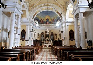 Tyrolean church in Val di Fassa in the Italian Dolomites