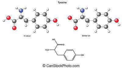 Tyrosine Tyr - Tyrosine (Tyr) - chemical structural formula...
