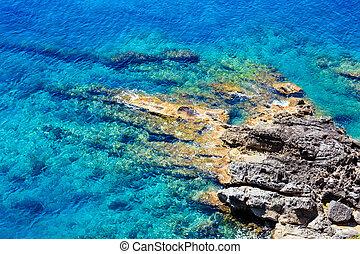 Beautiful Tyrrhenian sea coastline landscape. Not far from Sapri, Campania, Italy