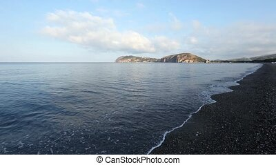 Tyrrhenian sea morning landscape, Campania, Italy -...