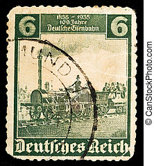 tysk, årgång, frimärke