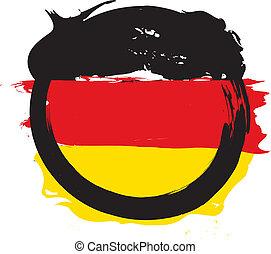 tysk, grunge, flag