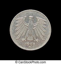 tysk, märke, mynt