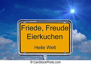 tysk, tegn